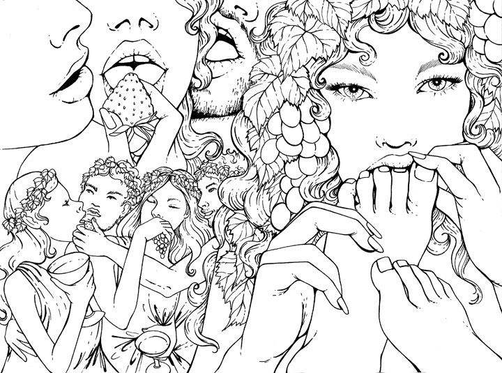 8 gorgeous erotic lesbian line drawings youll want to print out and color immediately