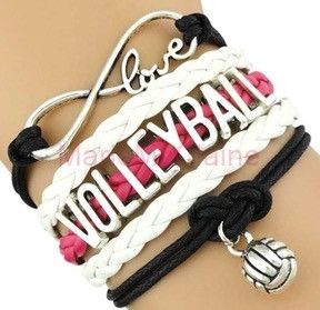 Volleyball Bracelet White Pink Volleyball Jewelry Volleyball Outfits Volleyball Necklace