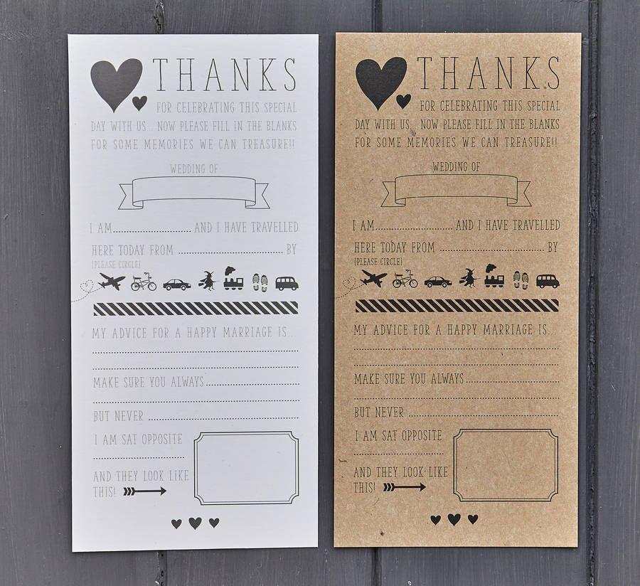 bridal shower keepsake book%0A Pack Of    Wedding Advice Cards