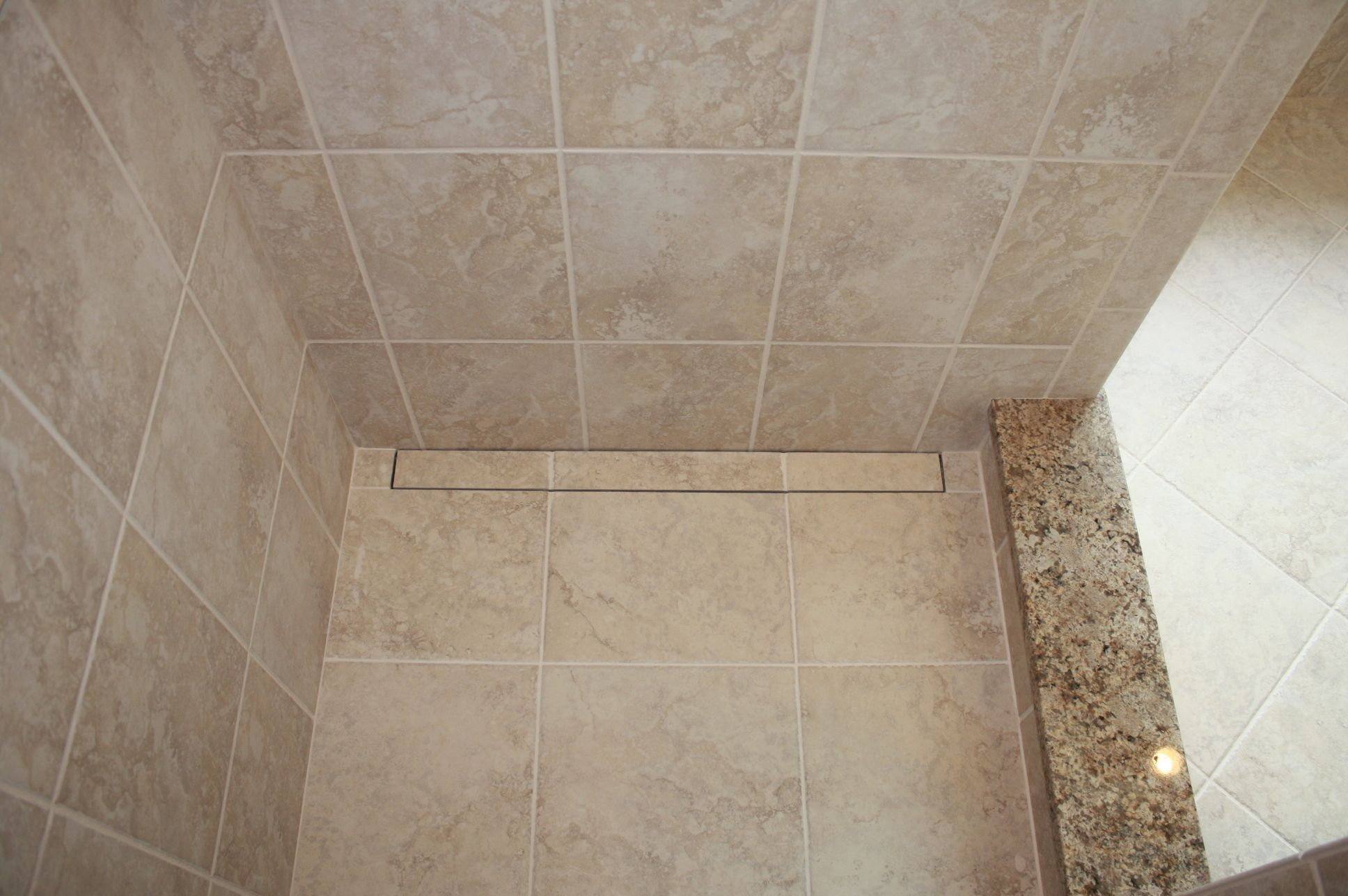 Schluter shower floor using the tiled linear drain any size tile schluter shower floor using the tiled linear drain any size tile can be used on dailygadgetfo Images