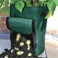 Home Gardening PE Planting Bag Vegetable Potato Tomato Balcony Patio Grow Bags Plant Containers Pots & Planters45*35cm #patiodepapas