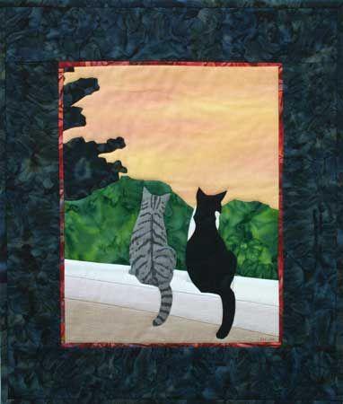 Kitties | Cat Quilts | Pinterest : applique cat quilt patterns - Adamdwight.com