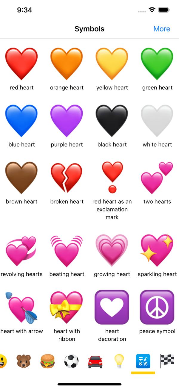 Meanings heart emoji 💖