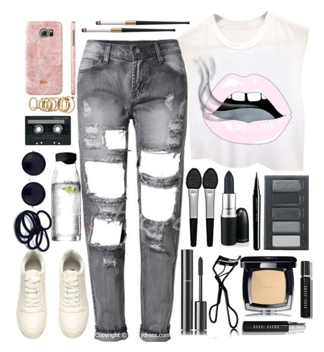 """⏬⚪⏬"" by niamtz on Polyvore featuring Chanel, Sephora Collection, Marc Jacobs, Borghese, Menu, The Row, CASSETTE, Samsung, Lipsy and Bobbi Brown Cosmetics"