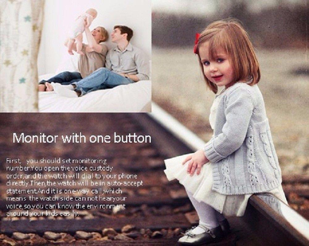 GPS Kid Safe smart Locator Tracker Baby Wristwatch