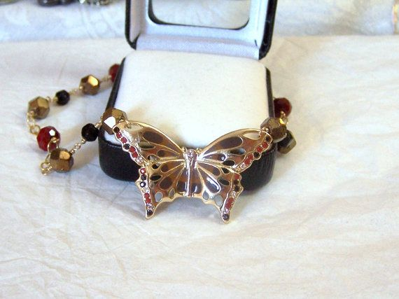 Handmade Artisan Wire Wrapped Butterfly by ExquisiteStudios, $51.00