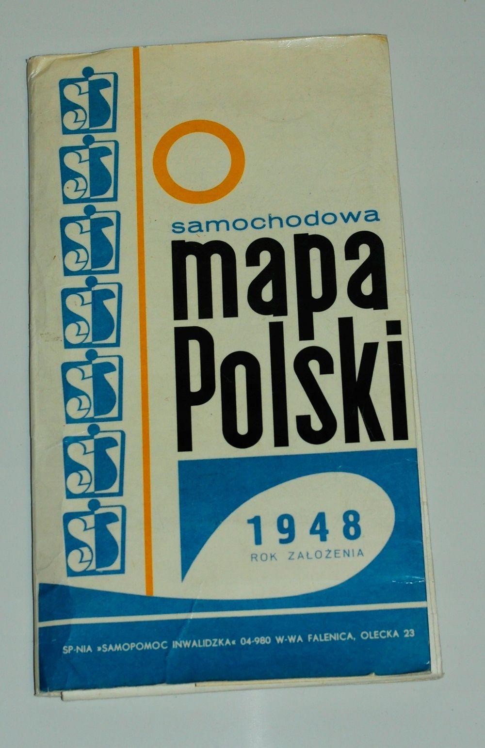 Samochodowa Mapa Polski Z 1977r Oldshool 7677031034 Oficjalne Archiwum Allegro Book Cover Books Cover