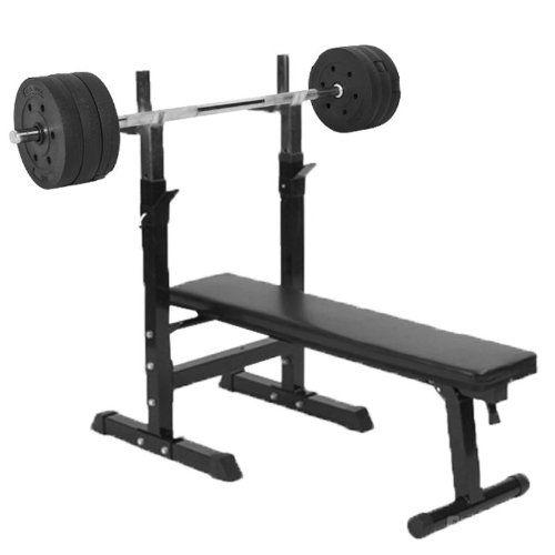 Gorilla Sports Weight Bench With 38kg Vinyl Weight Set Weight Benches Weight Set At Home Gym