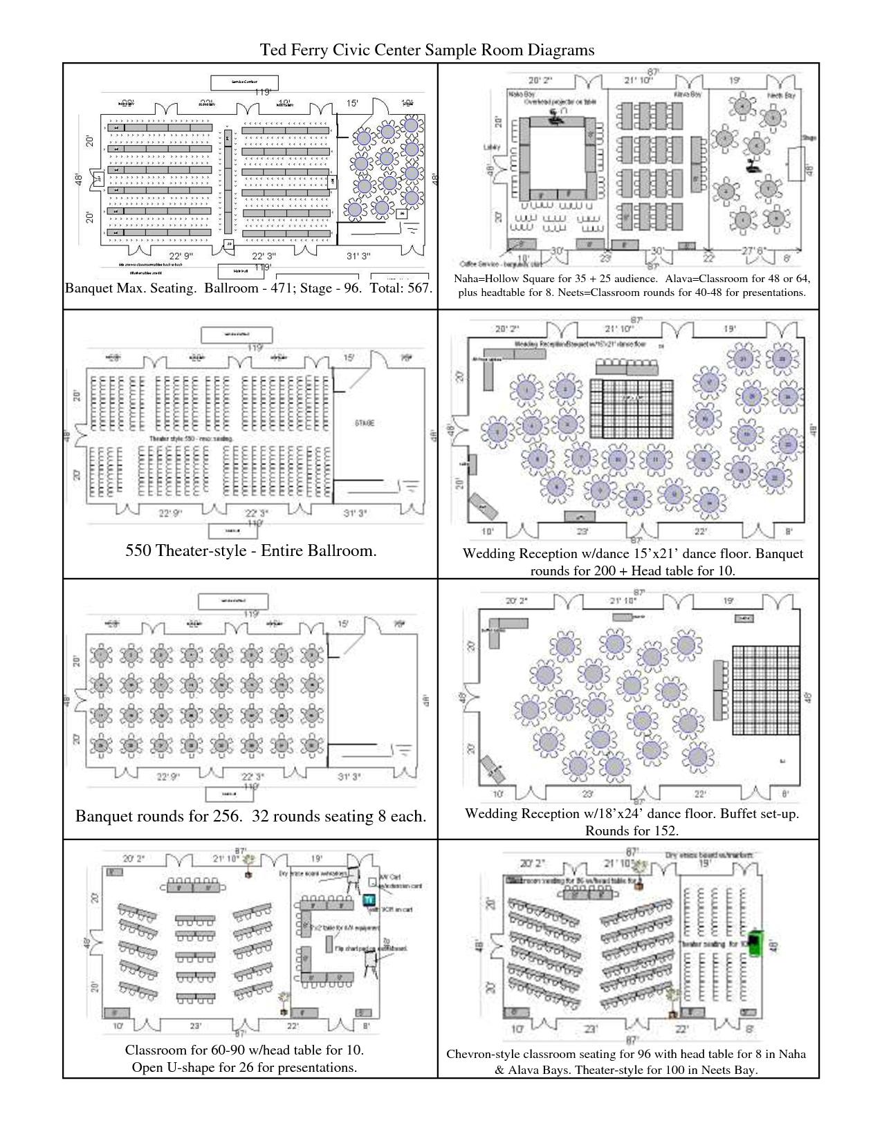 banquet table set up diagram [ 1275 x 1650 Pixel ]