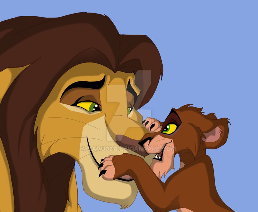 Ahadi With His Second Son Taka Ahadi Loved His Second Son And Taka Wanted To Spend All The Time With His Daddy After The Le Lion King Lion King 4 Lion