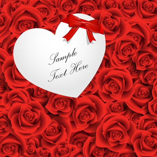 روز هدية القلب مع الخلفية قلب هدية وردة حمراء رومانسي روز خلفية الشريط Png والمتجهات للتحميل مجانا