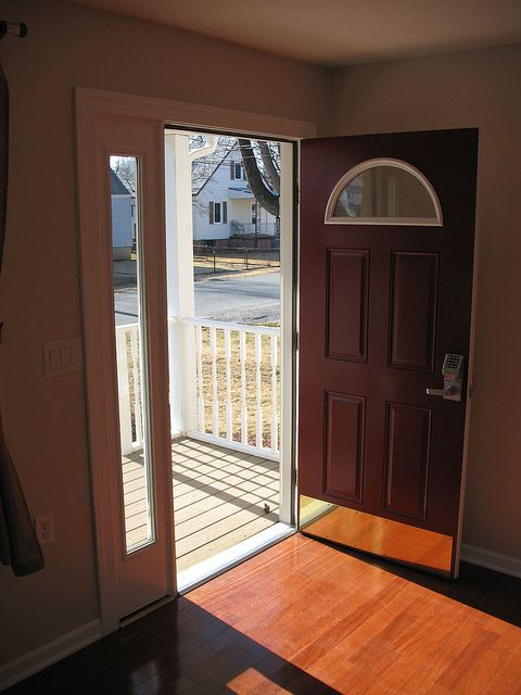 This wheelchair accessible door is installed in the wheelchair accessible house for rent in Baltimore MD. & Wheelchair accessible door | Front doors Doors and House
