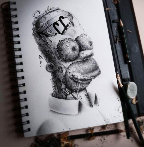 Arte con lapices