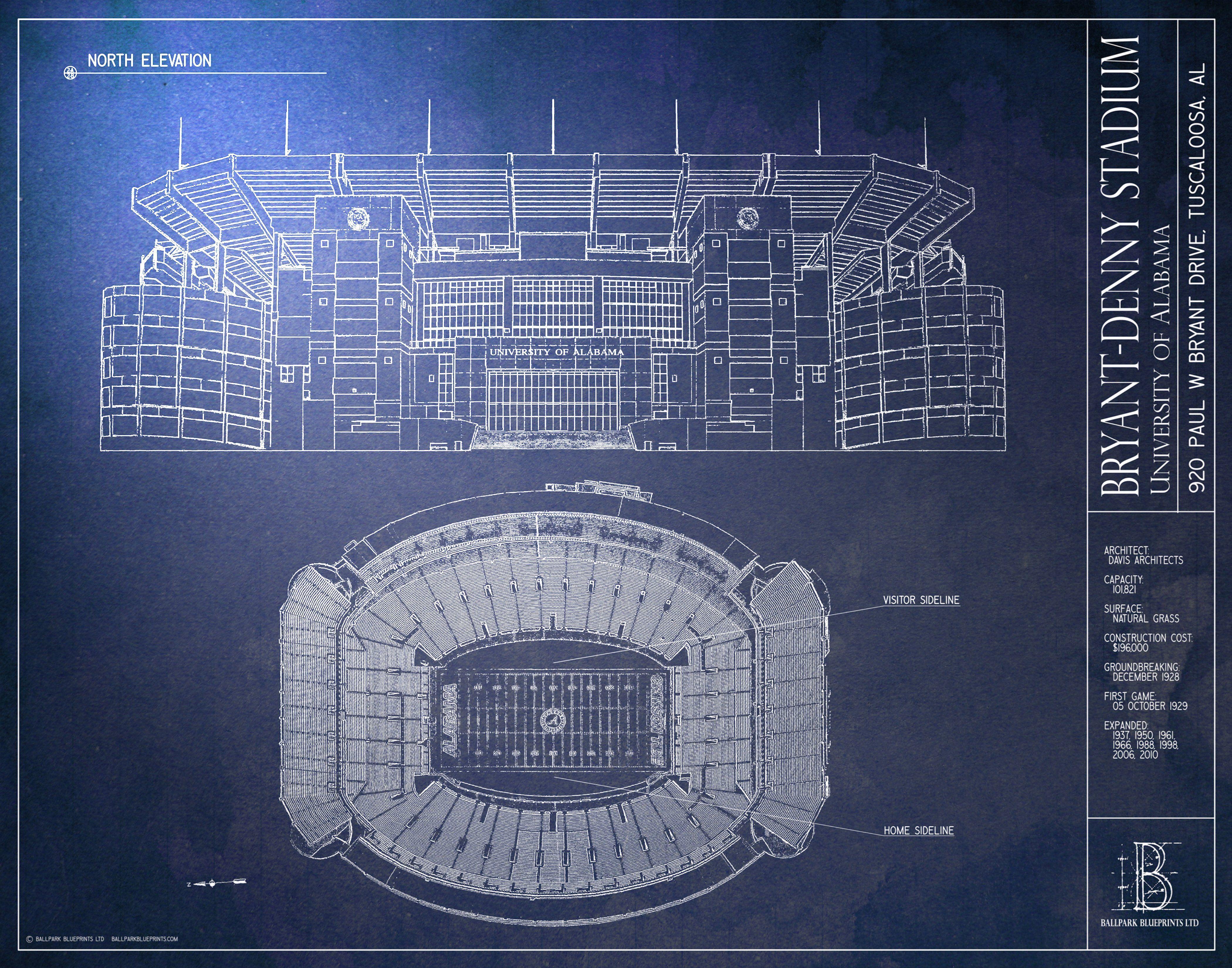 Bryant Denny Stadium University Of Alabama Roll Tide