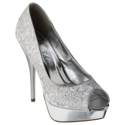 Women's De Blossom Heather Open Toe Platform Pump #gold #silver #heels #nye #party #target #glitter