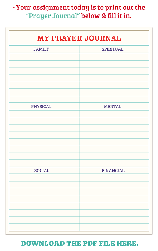 This is a picture of Satisfactory Printable Prayer Journal Pdf