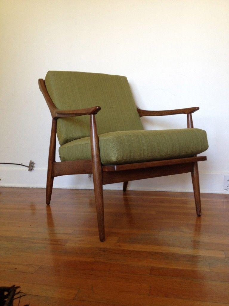 Modern Walnut Living Room Furniture: Details About Mid-Century Danish Modern Walnut Open Arm