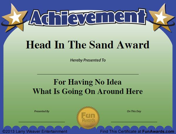 Funny Certificates work team Pinterest Funny certificates