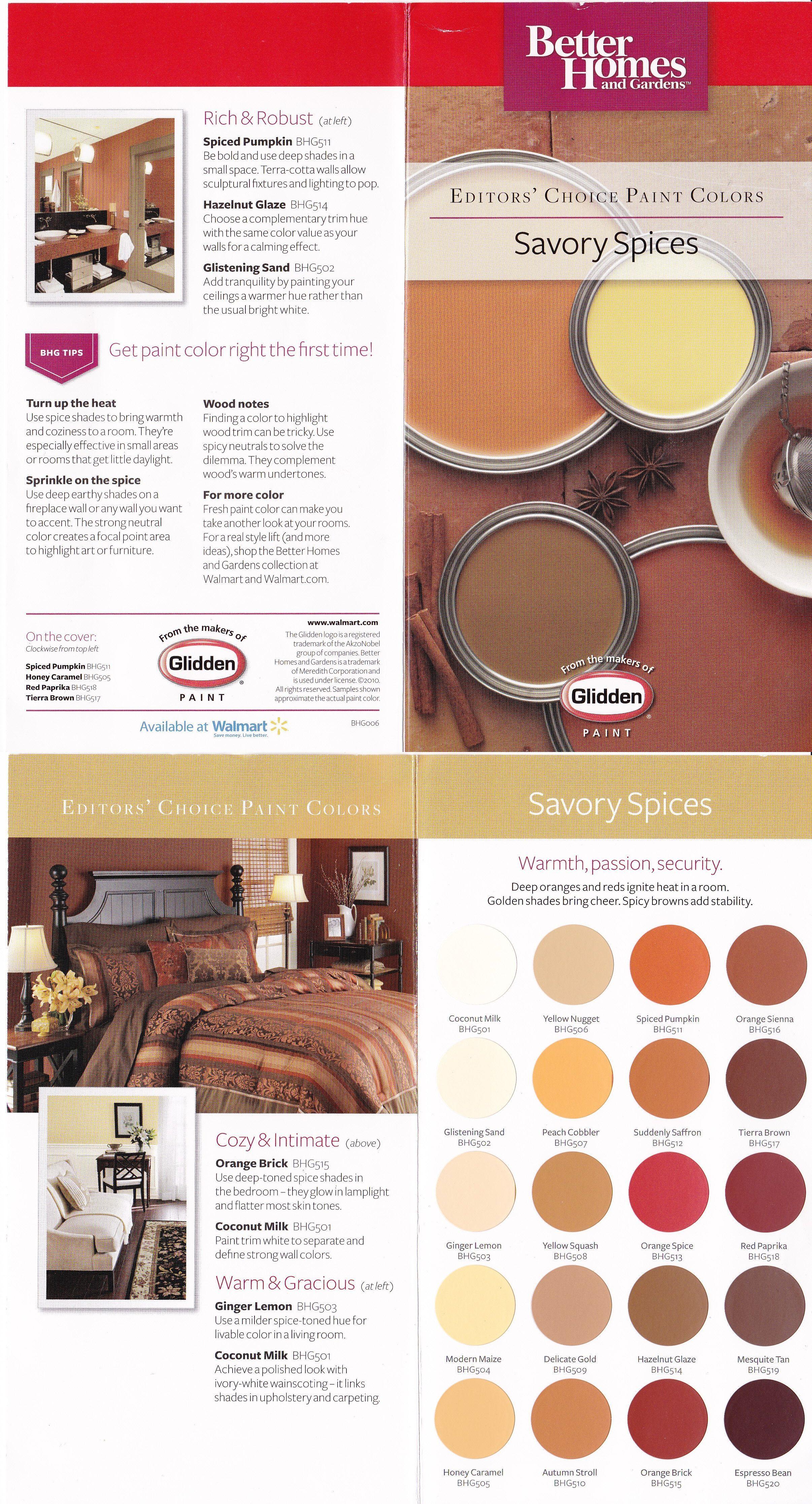 Paint Colors Savory Spices Warm Earth Tones Deep Oranges