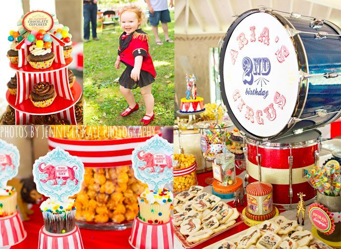 Vintage Circus Birthday Party | Colorful Kid's Birthday Party | Geneva Party Planner Florist www.kiokreations.com