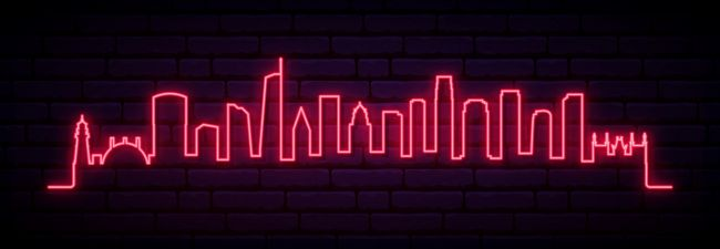 Skyline Los Angeles City Led Neon Sign Custom Options Color Size Dimmable Electrical Battery Powered Wall Mounted Desktop Type Hanging In A Window Ceili In 2020 Neon Signs Led Neon Signs Neon Lights