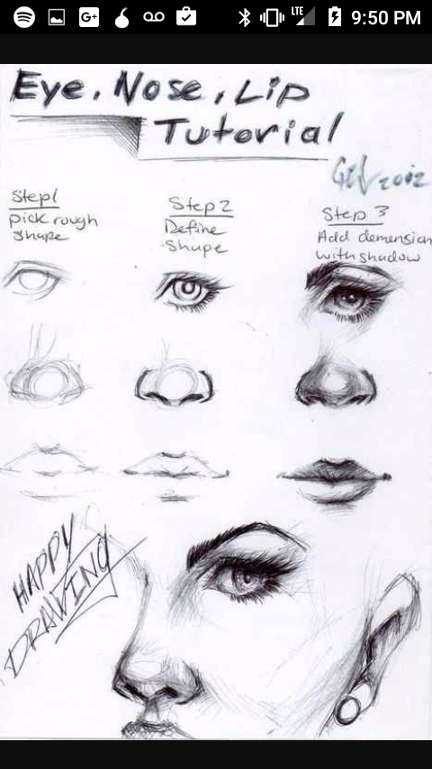 eyes nose lips tutorial