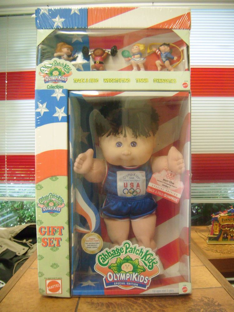 Cabbage Patch Olympikid Doll Gift Set 1996 Olympic Track And Field Nib Mib L K Doll Gift Cabbage Patch Kids Patches