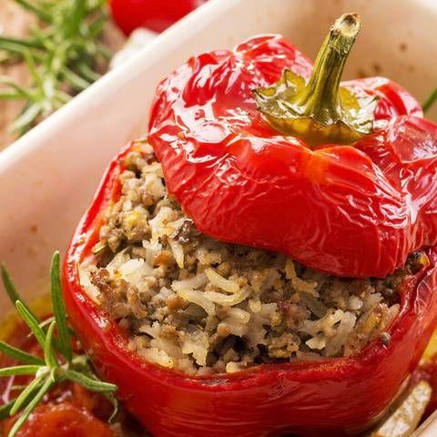 10+ Gefuellte paprika vegetarisch mit reis ideen