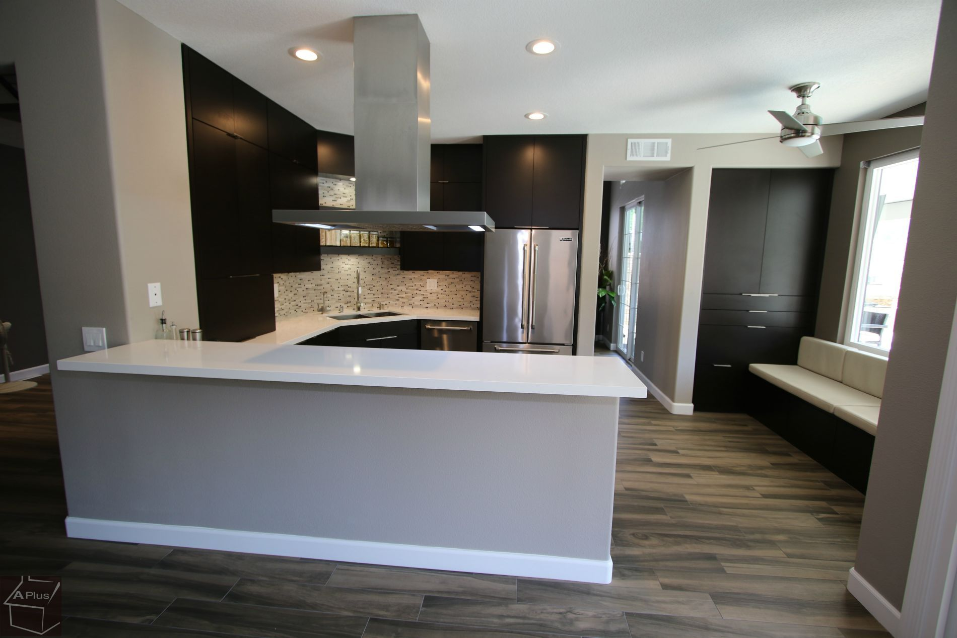 Design Build Modern Kitchen Remodel With APlus Sophia Line Cabinets In  Chino Hills Orange County