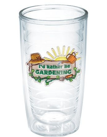 Wrap Your Green Thumb Around This Fresh I D Rather Be Gardening Tervis Design And Keep Yourself Hydrated While Watering Your Plan Tervis Tumbler Tervis Tumbler