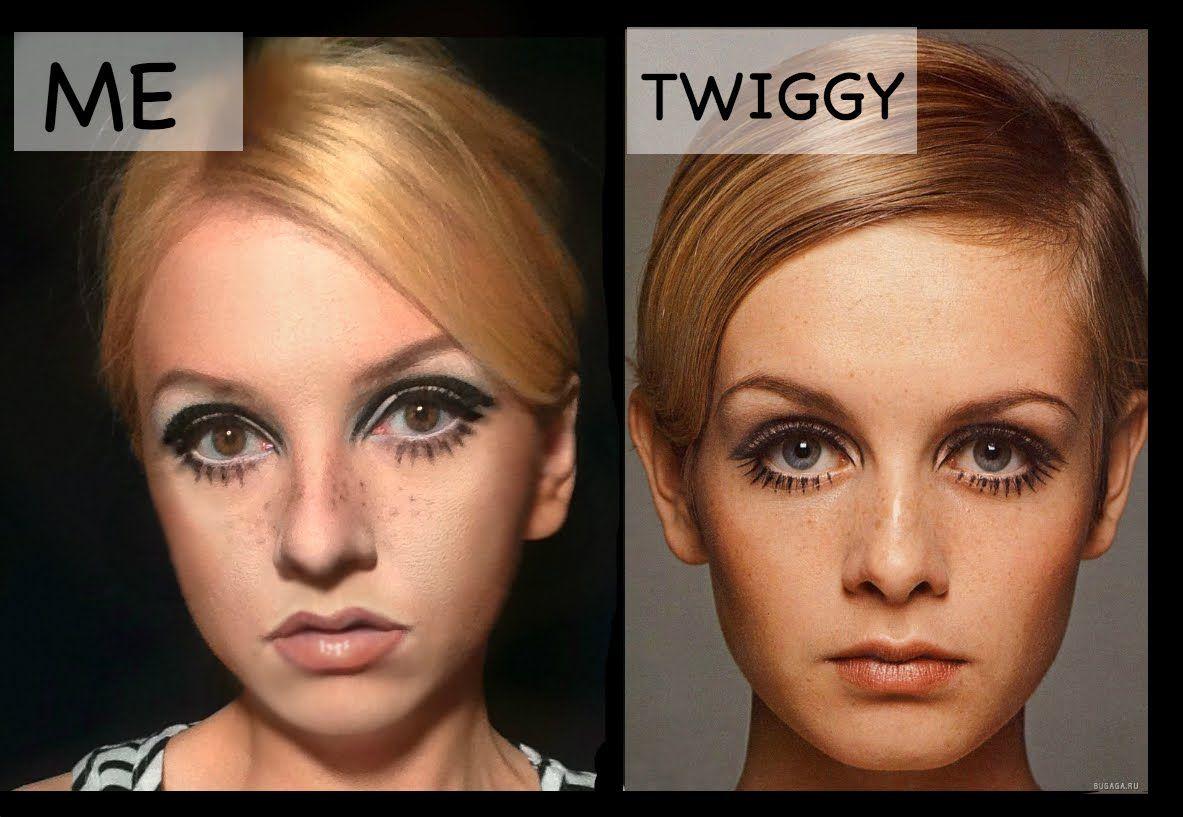 Twiggy Makeup Tutorial Youtube Twiggy Makeup Makeup For Round
