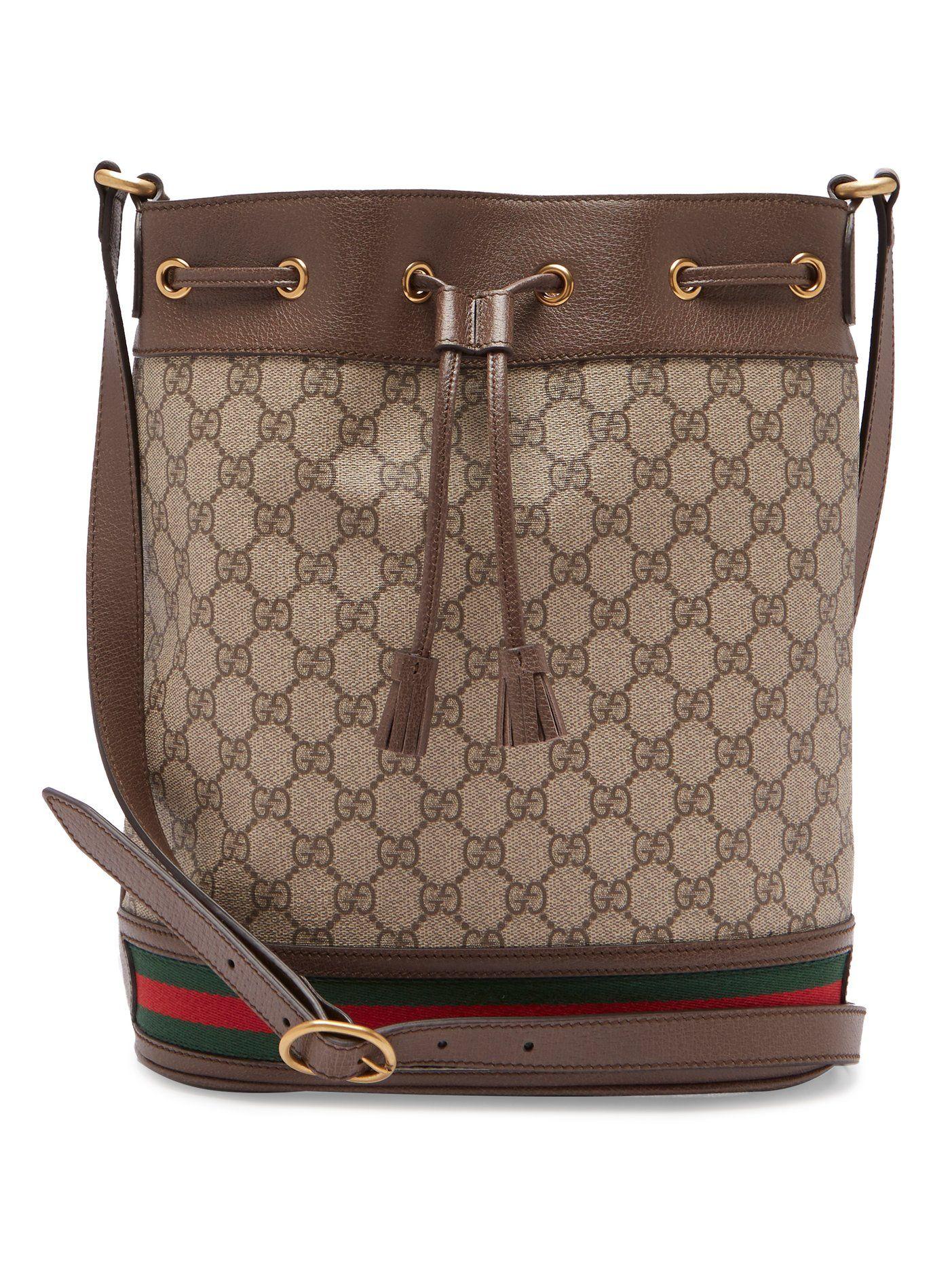 5714c397b Ophidia GG Supreme leather bucket bag | Gucci | MATCHESFASHION.COM ...
