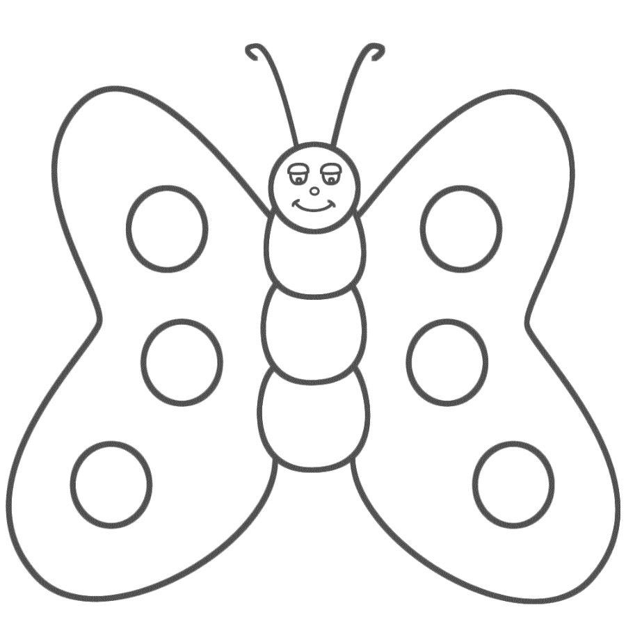 Galeria De Imagenes Dibujos De Mariposas Para Colorear Con