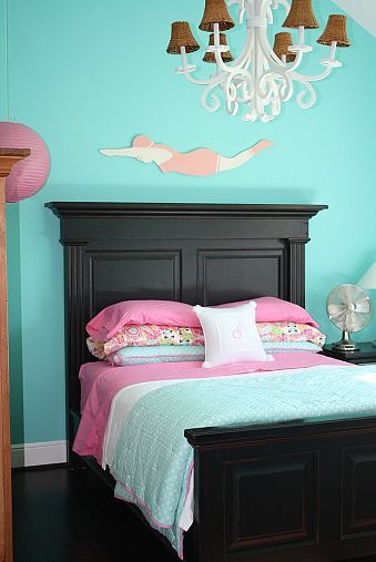 Tiffany Blue Girl\'s Room | Ideas for the home | Blue girls ...