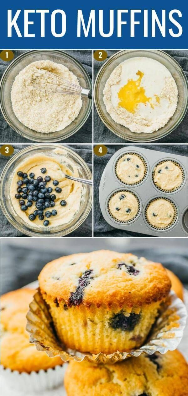 Simple blueberry muffins that are quick and easy to make, great for breakfast in the mornings. They're flourless (made with almond flour instead), healthy, and great for low carb or ketogenic diets. They're moist and fluffy, just like the real deal. Click the pin to find the recipe, nutrition facts, cooking tips, & more photos. #healthy#healthyrecipes #lowcarb #keto#ketorecipes #glutenfree #breakfast / sweet berry recipes / baking breakfast ideas #cookingtips