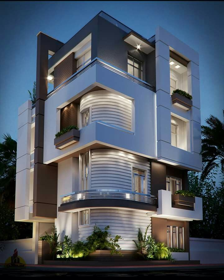 Modern Residential Exterior By Ar Sagar Morkhade: Pin By Madhu Kiranvarma On House In 2019