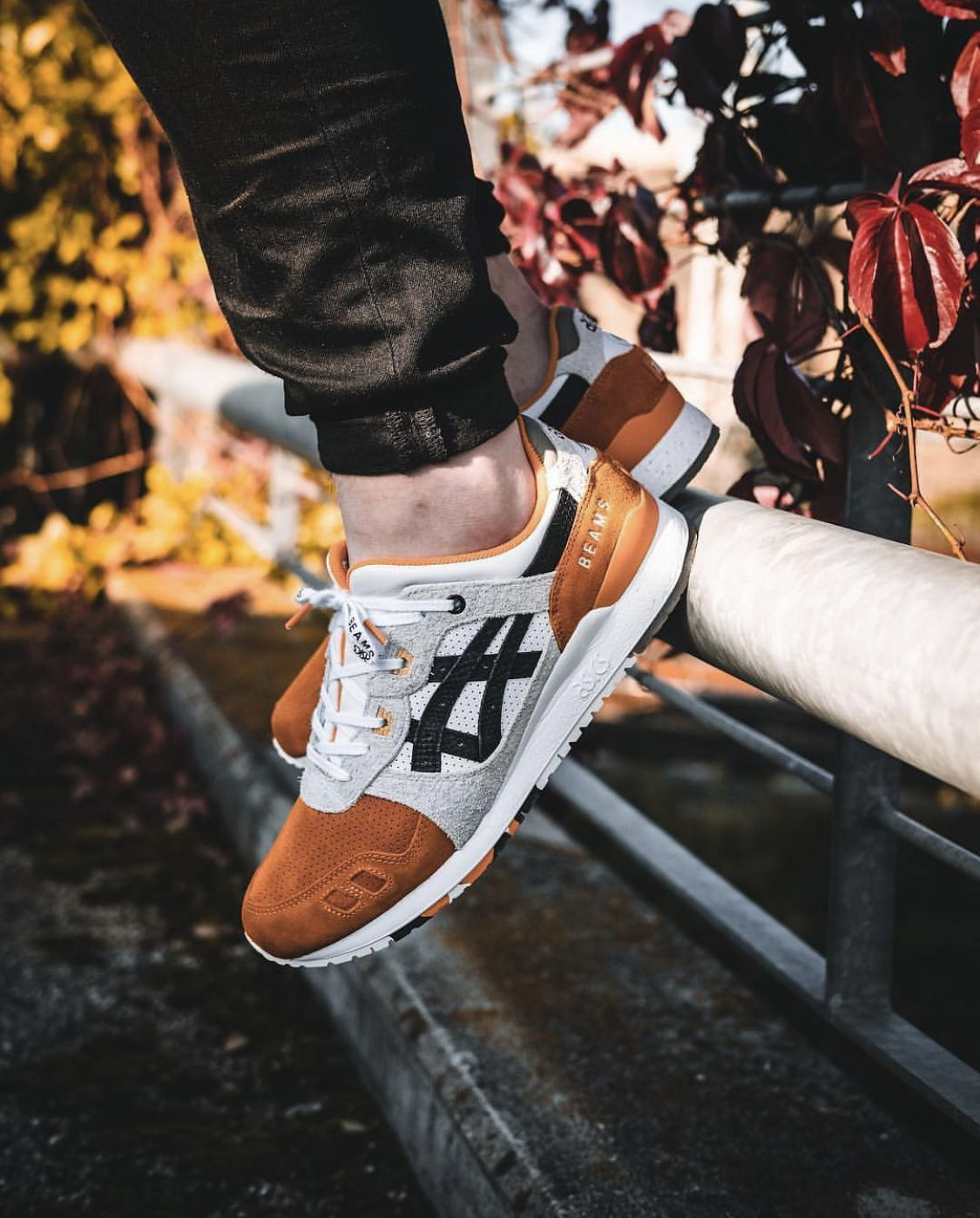 Afew X Beams X Asics Gel Lyte Iii Orange Koi Ankle Sneakers