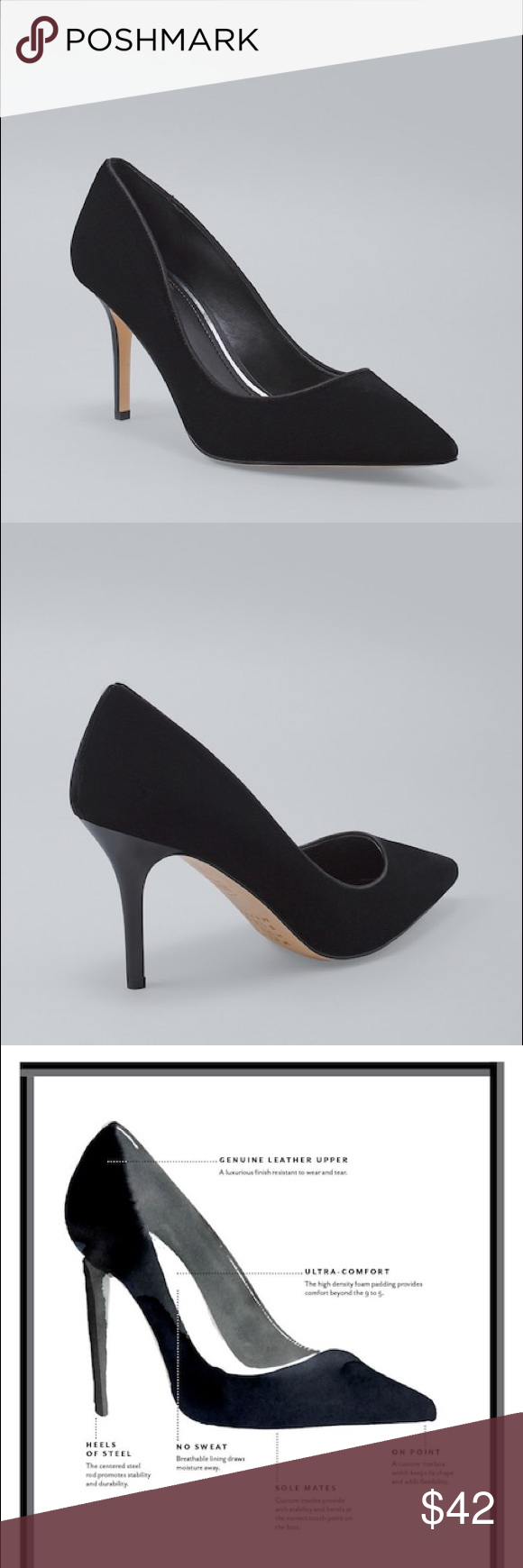 58004a84e4574 Black Velvet Pumps This Velvet Pump lends a modern touch to the classic  pumps that will