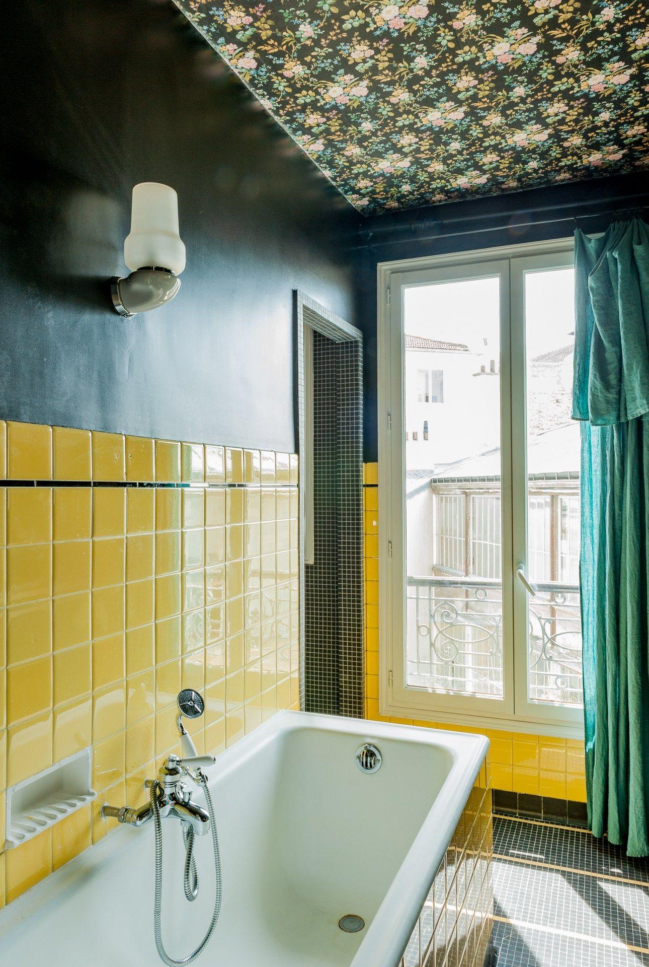 Decoration Salle De Bain Papier Peint ~ salle de bain papier peint plafond fontaine 4 pinterest bath