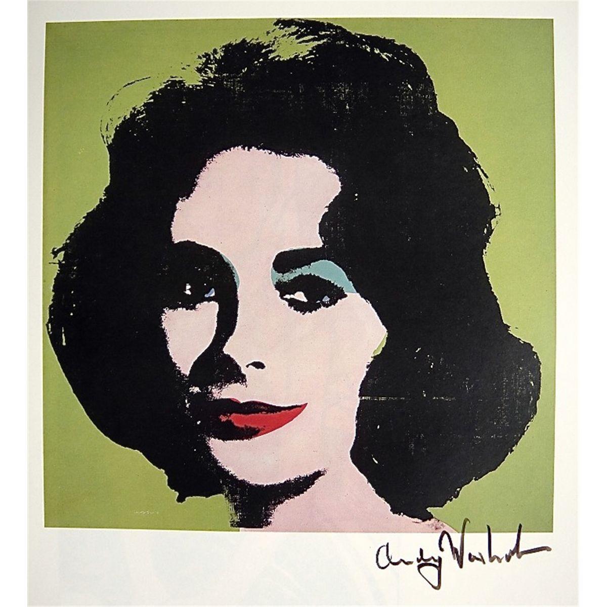 Andy WARHOL, Signed Print, Elizabeth Taylor Idea