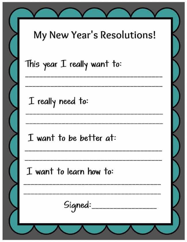 New Years Eve Resolution Printable by Uncommon Designs | New Years ...