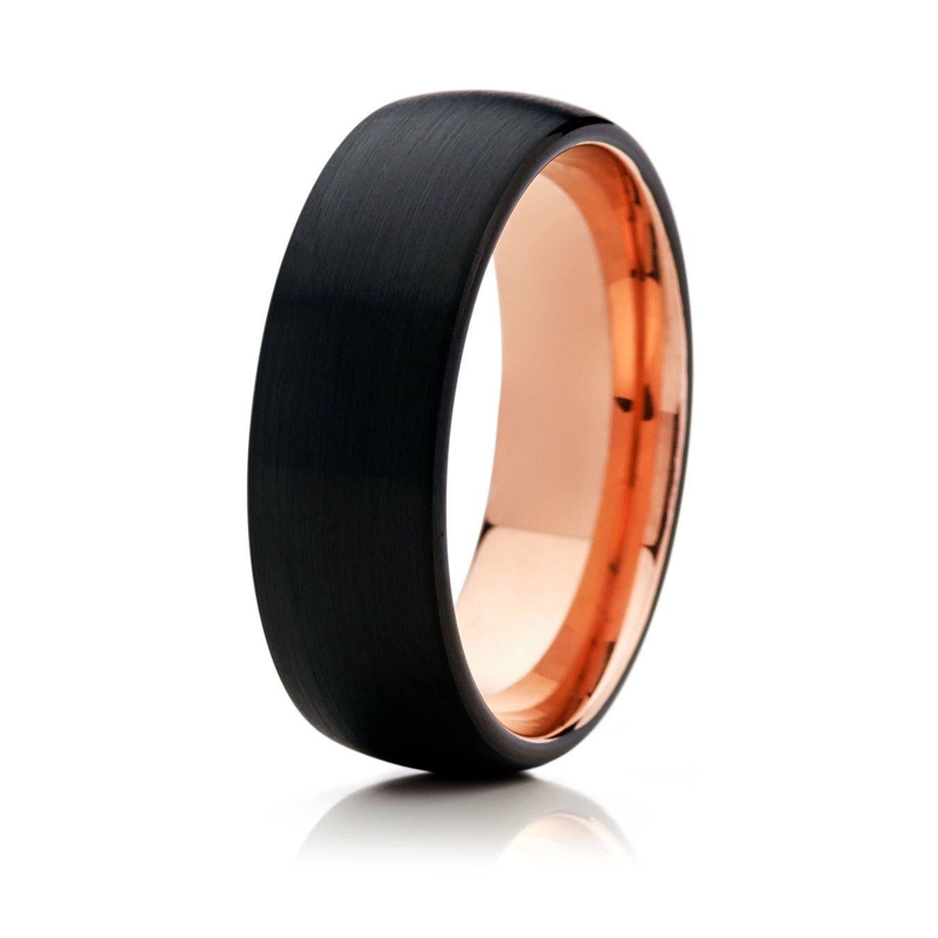Tungsten Mens Wedding Band Anniversary Rose Gold Ring Wedding Rings Tungsten Wedding Bands Tungsten Mens Rings