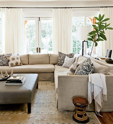 Rosa Beltran Design Blog Customizing Inexpensive Linen Curtains Diy Tutorial Curtains Living Room Simple Living Room Transitional Living Rooms