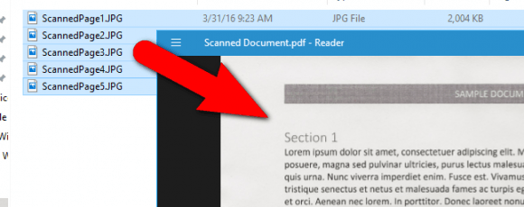 How To Combine Images Into One Pdf File In Windows Lorem Ipsum Letters Combination