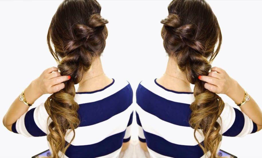 2 Minute Hairstyles 2Minute Easy Fancy Ponybraid Hairstyle  Easy Life Hacks  Beauty