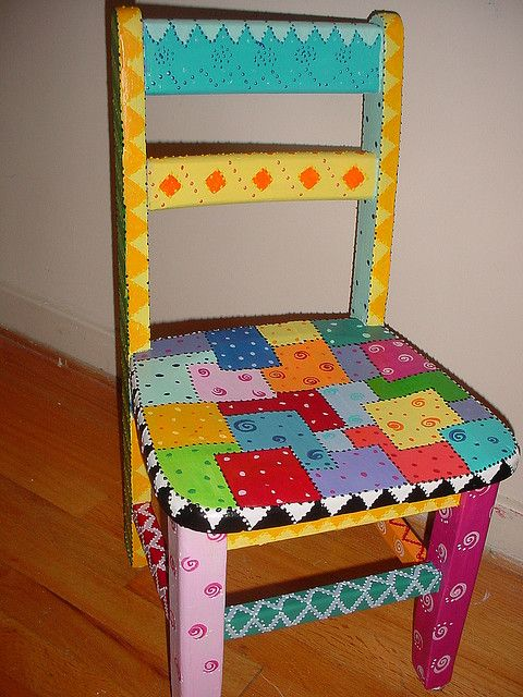 Time out chair paint furniture funky furniture and craft for Hand painted furniture