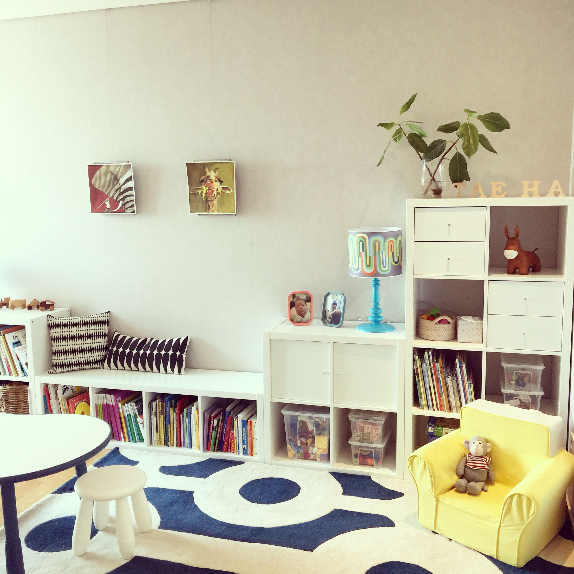 Ikea Kallax Insert Samla Kids Room Interior Self White Mammut Stool Bookshelf Korea Kinder Zimmer Ikea Kids Kinder Schrank