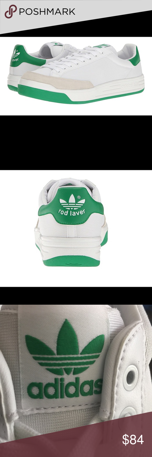 NWT Adidas Mens Rod Laver Shoes Sz 9.5