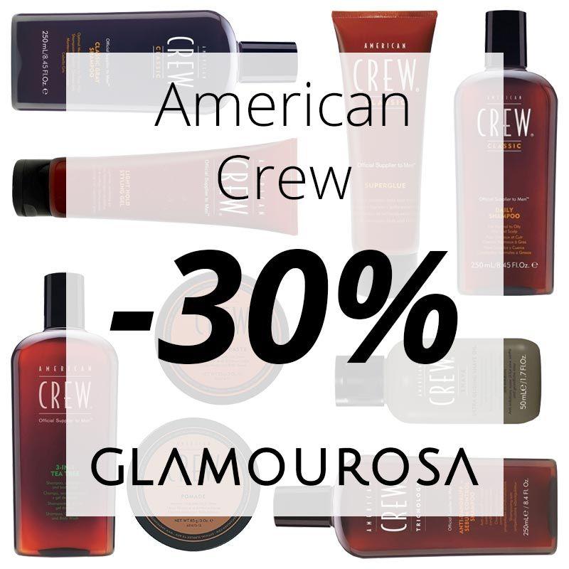 American Crew with 30 OFF on Loja Glamourosa! American