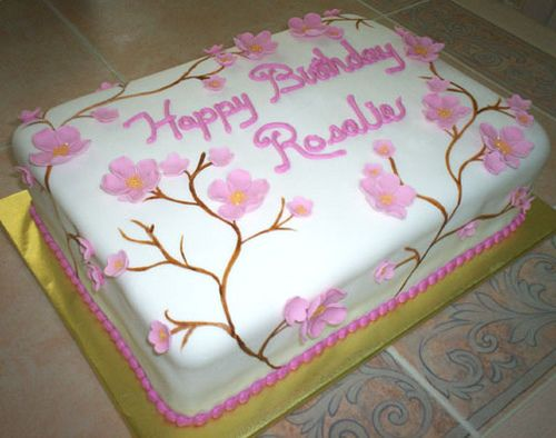 Cake For Grandmas Birthday By Cakes Kelli Via Flickr